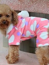 Cães Casacos / Camisola com Capuz / Pijamas Rosa Roupas para Cães Inverno Corações