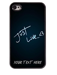 Personalized Phone Case - Just Live Design Metal Case for iPhone 4/4S