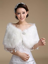 Wedding Wraps Faux Fur Warm Bridal Wedding Shawls With Tassel