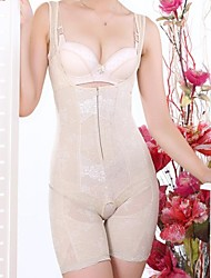 Patterned Open Bust Zipper Fly Slimming Corset Sexy Lingerie Shaper