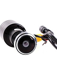 puerta de mini Ver vídeo cámara 480TVL cámara lente de la cámara del agujero del ojo de puerta lente 1.7mm color de espejo de la puerta de ojo de pez