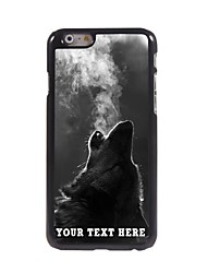 Personalized Phone Case - The Wolf Blowing Smoke Design Metal Case for iPhone 6 Plus