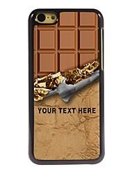 caso de telefone personalizado - caixa de metal design do chocolate doce para iphone 5c