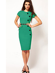 VERYM Women's Short Sleeve Bodycon Slim Dresses