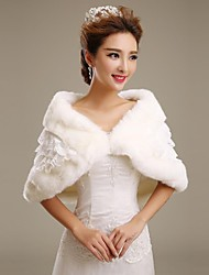 Fur Wraps / Wedding  Wraps Shrugs Faux Fur Ivory Wedding / Party/Evening