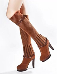 Women's Shoes Fashion Boots Chunky Heel Ankle/Knee High Boots(Two Ways available)