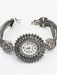 Women's European Style Fashion Sunflower Bracelet Watch