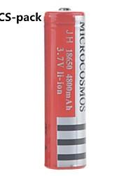 microcosmos 4800mAh 18650 bateria de iões de lítio recarregável (10pcs)