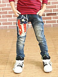 Boy's Flag Printed Pants