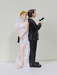 Cake Topper Classic Couple / Funny & Reluctant Resin Wedding / Bridal Shower White / Black Classic Theme Gift Box