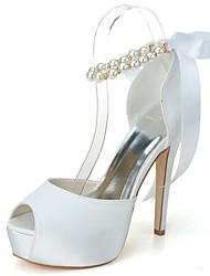 Mujer Zapatos de boda Tacones/Punta Abierta/Plataforma Tacones Boda/Fiesta y Noche Negro/Azul/Rosa/Rojo/Marfil/Blanco