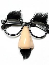 Забавные старца очки нос / бровей - бежевый + черный