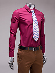 bordeaux Slim Fit Langarm-Shirt