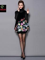 yimilan® nouvelle hiver robe de gilet brodé lourd femmes