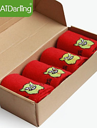 calcetines de lana de conejo pies aidarling del hombre pisotean el diablo (dos pares de calcetines para vender juntos)
