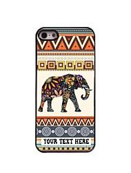 caja del teléfono personalizado - caso del diseño del metal de elefante para el iphone 5 / 5s