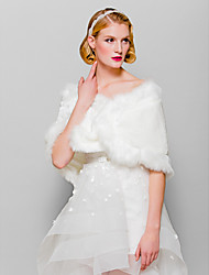 Fur Wraps Sleeveless Faux Fur Cassual&Wedding&Special Occaion Shawls