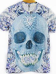 Blueberry Men's Fashion 3D Print Short Tshirt 3092