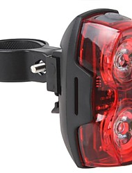 3-Mode 2-LED Bicycle Tail Light (2xAA battery,Red)