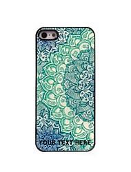 personnalisé cas de téléphone - bleu lotus cas design en métal pour iPhone 5 / 5S