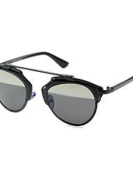 100% UV400 browline de metal gafas de sol retro