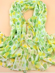 SUIDE Women's Qiu Dong New Velvet Chiffon Scarves Han Edition Long Scarf Female Pallium WR97 Green