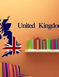 Wall Stickers Wall Decals,  Modern The United Kingdom PVC Wall Stickers