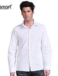 Lesmart Men's Cotton Embroider Shirt