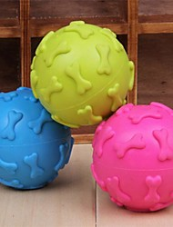 Dog Pet Toys Ball / Chew Toy Squeak / Squeaking / Bone Random Color Rubber