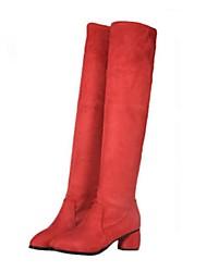 женская обувь сапоги мода коренастый пятки над сапоги