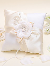 Flowered Ring Pillow with Pearls