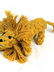 Lions Style Cotton Rope Toys, Pet Dogs And Cats (1 Pcs, Brown)