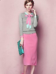 Women's Casual Suits(Sweater & Skirt)