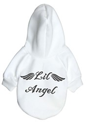 Cat / Dog Hoodie White Dog Clothes Winter Angel & Devil