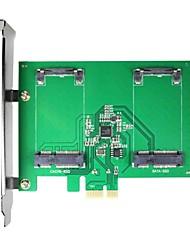 maiwo kcssd2 2 x 1,8 pulgadas mSATA pci-e SSD mSATA para tarjeta pci-e