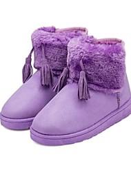 botas de los zapatos de nieve de las mujeres del talón plana botines más colores disponibles