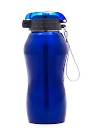 750ML Blue Outdoor  Bicycle Stainless Steel Water Bottle Kettle