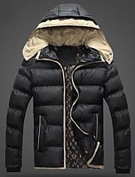 inverno incappucciato cappotto caldo degli uomini
