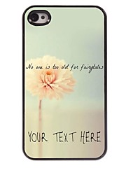 Personalized Phone Case - Flower Design Metal Case for iPhone 4/4S