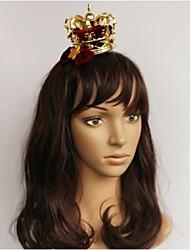 Call Me King Golden Alloy Mini Crown Hair Pin Christmas Headpiece