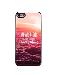 Personalized Phone Case - Dear God Design Metal Case for iPhone 5/5S