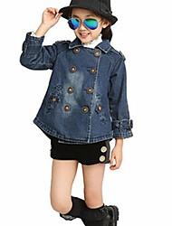 Girl's Denim Jacket & Coat , Winter/Spring/Fall Long Sleeve