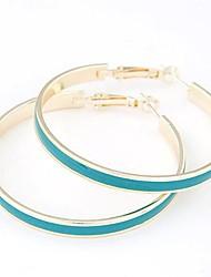 europeo stile moda metallo elegante semplicità orecchini grande cerchio (più colori)