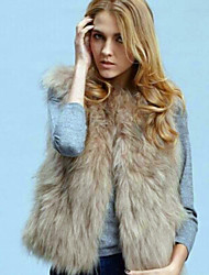 fourrure veste courte de pc008 de Nina femmes
