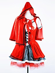 Cute Little Red Riding Hood Bandage Red Cotton Cosplay Costume