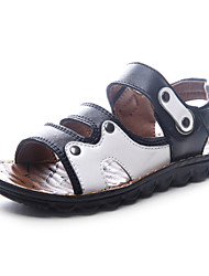 Boy's Sandals Spring / Summer Slide / Comfort / Open Toe Leather Flat Heel Magic Tape Black