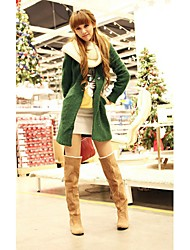 Plus Size Banding Back Long Winter Boots Yellow