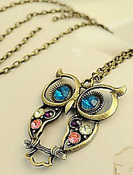 Necklace Pendant Necklaces / Vintage Necklaces Jewelry Daily Fashion Alloy / Zircon Coppery 1pc Gift