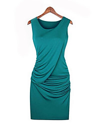 Mufans Women's Fashion Fitted Dress 1419#