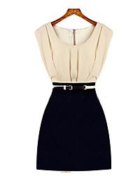 Mufans Women's Sleeveless Ol Dress 1436#